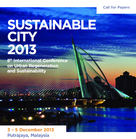 sustainable city 2013