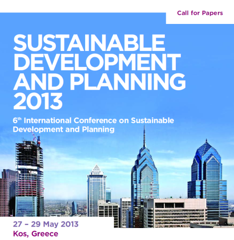 sustainable development and planning 2013
